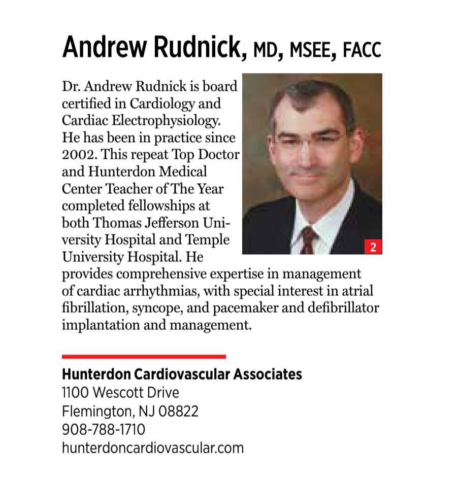 Andrew Rudnick MD, MS, FACC | Cardiac Electrophysiologist | Clinton NJ